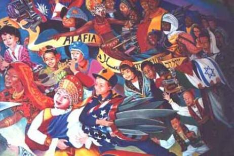 Denver international airport mural conspiracy for Definition of mural